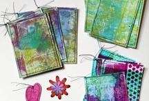 Gelli prints / Everything to do with monoprinting.
