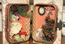 Art - altered tins & tiny houses. / by Debra Bible