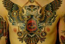 tattoo грудь old school