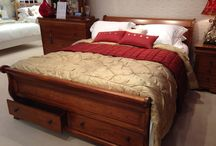 French Sleigh Bed / French style solid wood Sleigh bed and matching furniture.