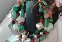 bracciale multifilo e multipietre con perle barocche