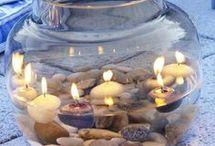 gyertyák, lámpák, fények