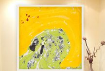 Brilliant energy of an Abstract paintings