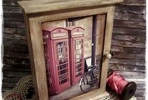 Londonos kulcsos szekrény