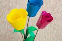Тюльпаны из бумаги / Цветы из бумаги своими руками, как сделать тюльпаны из бумаги своими руками, тюльпаны из бумаги.