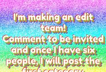 Minnaya's edit team / After every sixth pin, I will post a category that I want anyone invited to this board to make an edit of. Invite anyone.