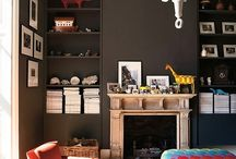 Homes ~ Walls / Wall colours, wall paper and wall decorations.