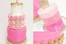 flamingos cake