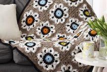 Пледы подушки / вязание