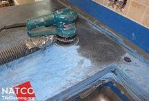 Concrete top polishing