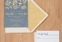For the Love of Chambray / My inspirations for creating the Chambray fabric wedding invitations.