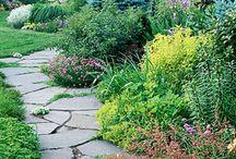 Puutarhaideat-  pihakivet / Polut, kivet, pihalaatat, puutarha