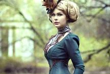Steampunk / a genre of science fiction that typically features steam-powered machinery rather than advanced technology.
