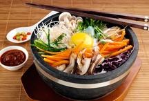 Korean foods kimchee bibimbab