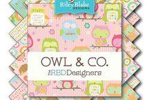 Riley Blake Owl & Co / Spring fabrics #rileyblake #spring