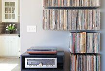 Schallplattenregale