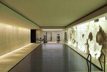indoor pool design wellness gym / privat spa