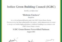 Green Initiative  / Green is our favorite color!! We are environment friendly and have got the seal of approval. Hebron Enclave has been certified by Indian Green Building Council (IGBC)