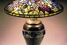 loodglas lampskerms.