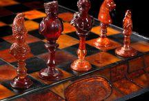 Luxury amber chess set / Luxury amber chess set