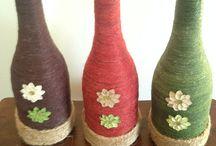 garrafas decoradas coloridas