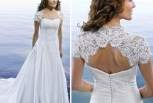 Bolero wedding gown