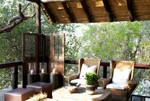 Terraces / spaces to relax