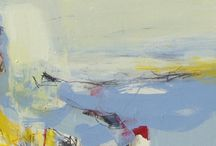 Angela Charles / Angela Charles artist painter abstract contemporary modern paintings expressive roger hilton st ives cornwall coastal landscape for sale