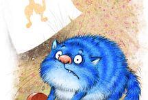 les aventures du chat bleu.