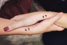 tatuering fågel