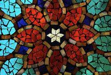 mosaicos y cemento