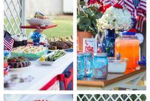 4th of July / Merica! All things red, white, and blue inspiring pretties, eats and more.