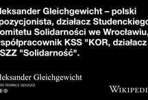 Solidarność / Solidarity (Solidaritet) was an workers union/organisation in Poland which started the end of communism.