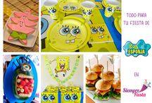 Fiesta de Bob Esponja / Ideas y muestra de nuestros artículos para que organices la mejor fiesta infantil de Bob Esponja.
