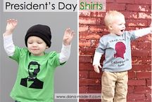 Presidential Stenciling / Stenciled projects for Presidents Day, Washington's Birthday, or Lincoln's Birthday. / by StencilSearch