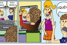 CARICATURAS / Aventuras de una madre, con humor