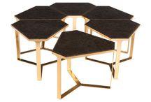 Coffee Tables Modular Satin Brass