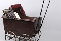 Antique and vintage prams for dolls