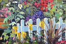 Beautiful garden paintings