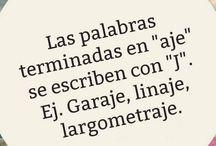 Reglas gramaticales español