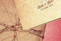 Wedding Invitation Diya + Jibin