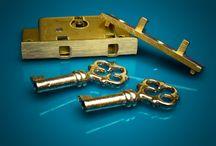 Locks / Jewelry locks, box locks, chest locks, trunk locks, cabinet locks, cupboard locks