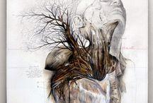 Root / Radice / Nunzio Paci  Title: Root / Radice Dim: cm 60x60 Tecnique: pencil and oil on canvas / matita e olio su tela Year: 2013