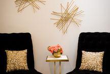 black and gold salon