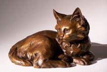 statues - cats / kočkovité šelmy