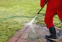 High pressure cleaning  / Methods and ideas of providing a clean surface outdoors