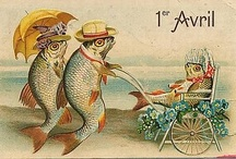 April fools day : Post cards  vintage. / antique French postcards.