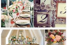 Reception Inspiration / Here at Thistlewood your romantic, elegant garden wedding a waits you - choose from vintage, glam, bohemian to traditional it all works here!!!  Our tables are square, so consider the options - keep them separate or push some together...