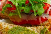 Veggie and pesto sandwich
