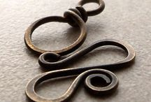 large spiral antiqued claps brass jewelry finding